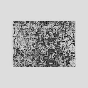 Industrial Metal Texture 5'x7'Area Rug