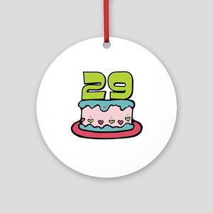 29th Birthday Cake Ornament (Round)