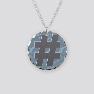 Hash Tag - Pound Necklace Circle Charm