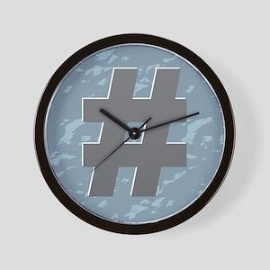 Hash Tag - Pound Wall Clock