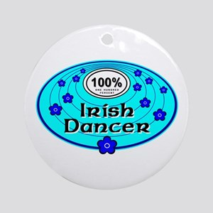 Blue 100% Irish Dancer Ornament (Round)