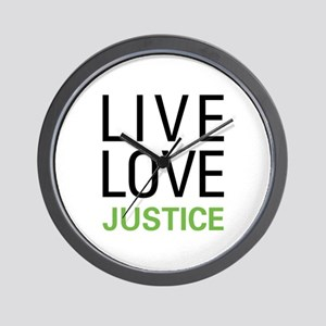 Live Love Justice Wall Clock