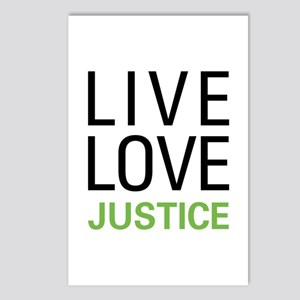 Live Love Justice Postcards (Package of 8)