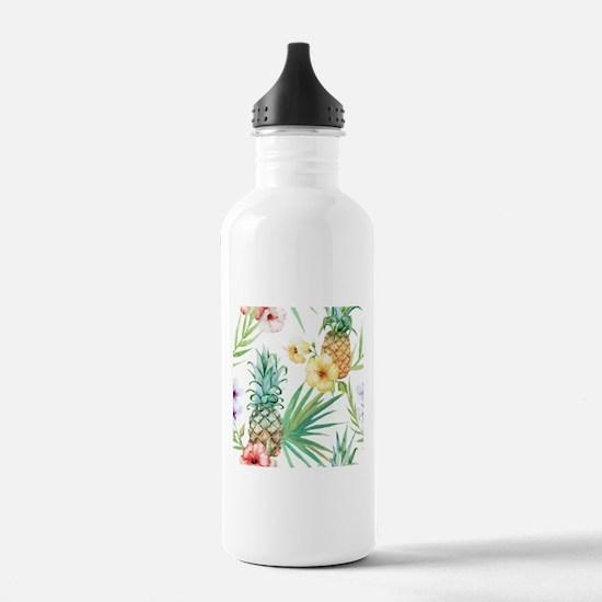 Vintage Flowers Water Bottle