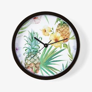 Vintage Flowers Wall Clock