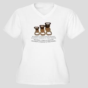 Kettlebell Women's Plus Size V-Neck T-Shirt
