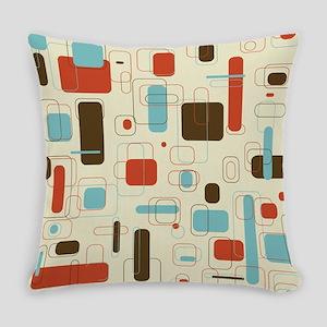 mid century modern art Everyday Pillow