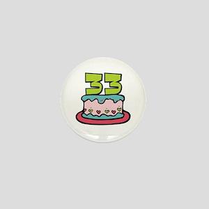 33rd Birthday Cake Mini Button