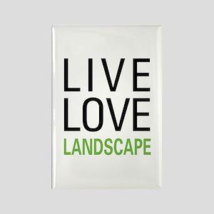 Live Love Landscape Rectangle Magnet