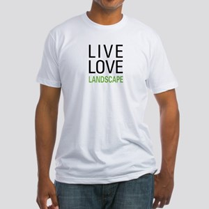 Live Love Landscape Fitted T-Shirt