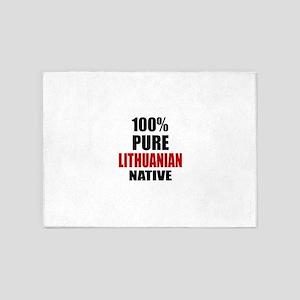 100 % Pure Lithuanian Native 5'x7'Area Rug