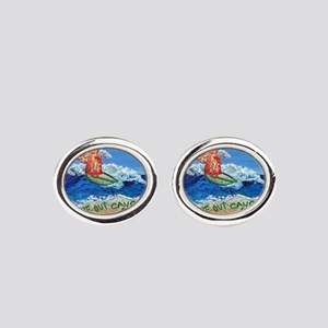 Wipe Out Cancer Angel Oval Cufflinks