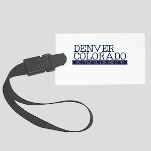 Denver Colorado Latitude Longitude Luggage Tag