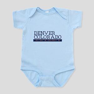 Denver Colorado Latitude Longitude Body Suit