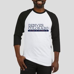 Denver Colorado Latitude Longitude Baseball Jersey