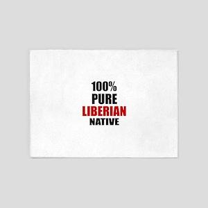 100 % Pure Liberian Native 5'x7'Area Rug