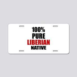100 % Pure Liberian Native Aluminum License Plate