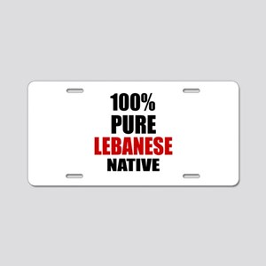 100 % Pure Lebanese Native Aluminum License Plate