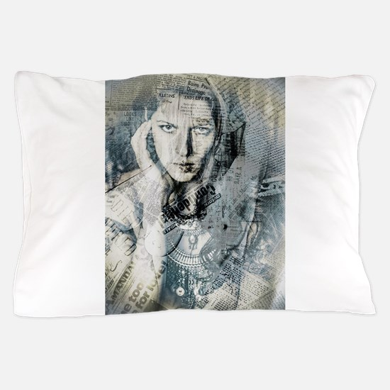 Collage Style Art Print ~Layers of My Pillow Case