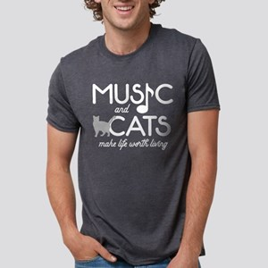 Music and Cats Mens Tri-blend T-Shirt