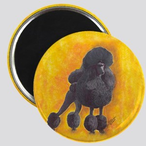 Black Standard Poodle 2 Magnet