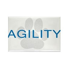 Agility Paw Rectangle Magnet