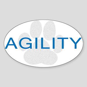 Agility Paw Oval Sticker