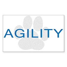 Agility Paw Rectangle Sticker