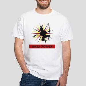 Ninja Power White T-Shirt