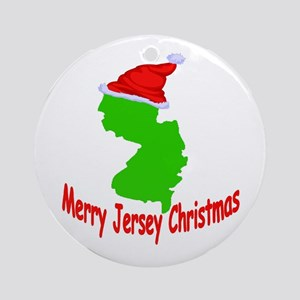 merry jersey christmas ornament round