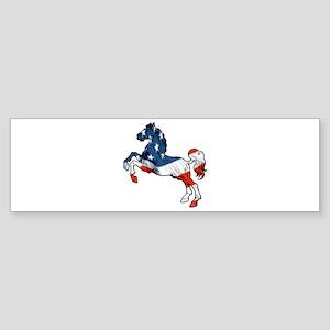 Old Glory Horse Bumper Sticker