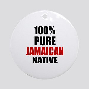 100 % Pure Jamaican Native Round Ornament