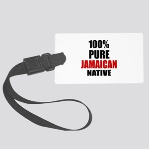100 % Pure Jamaican Native Large Luggage Tag