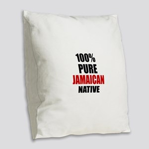 100 % Pure Jamaican Native Burlap Throw Pillow