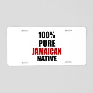 100 % Pure Jamaican Native Aluminum License Plate