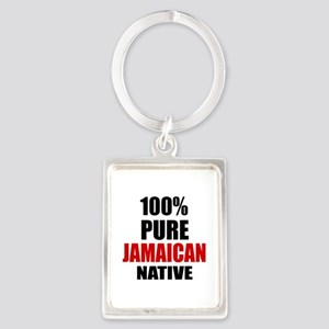 100 % Pure Jamaican Native Portrait Keychain