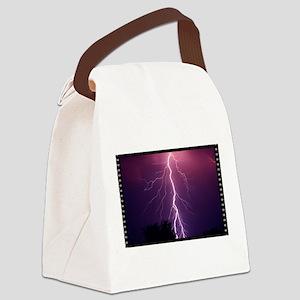 Lightning Strike Canvas Lunch Bag