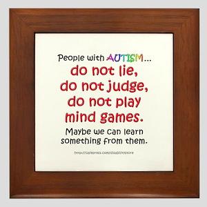 No Games (People) Framed Tile