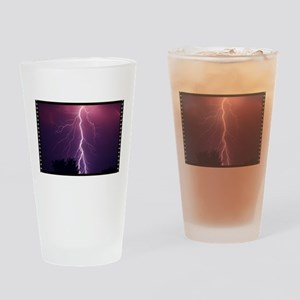 Lightning Strike Drinking Glass