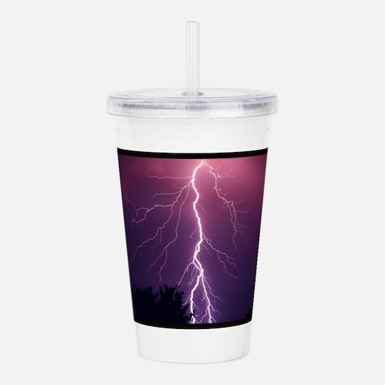Lightning Strike Acrylic Double-wall Tumbler