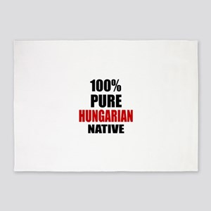 100 % Pure Hungarian Native 5'x7'Area Rug