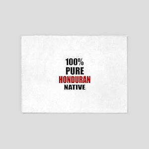 100 % Pure Honduran Native 5'x7'Area Rug