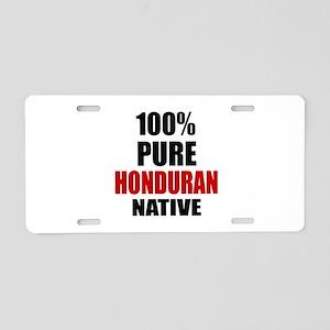 100 % Pure Honduran Native Aluminum License Plate