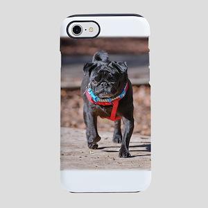 Black Pug in the Park iPhone 8/7 Tough Case
