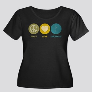 Peace Love Chiropractic Plus Size T-Shirt