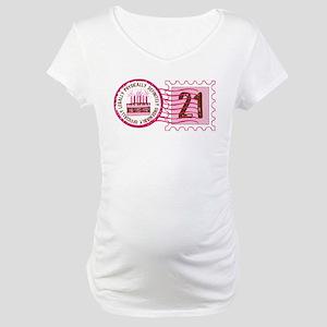 Birthday Stamp 21 Maternity T-Shirt