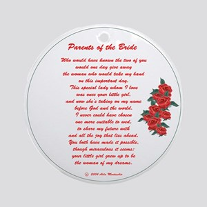 Parents of the Bride Ornament (Round)