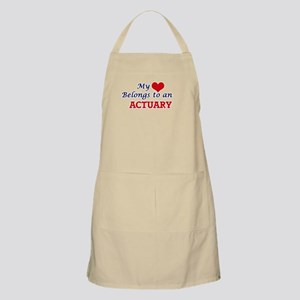 My Heart Belongs to an Actuary Apron