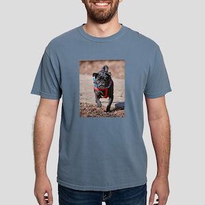 Black Pug in the Park Mens Comfort Colors Shirt