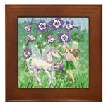 Fairy Unicorn Framed Tile